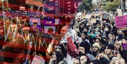 Cae la bolsa de Wall Street y continúan las protestas en Estados Unidos