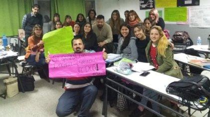 Los terciarios de San Miguel se suman al apoyo a los docentes de Chubut