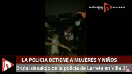 La Policía de Larreta desalojó violentamente a una mujer y sus 8 hijos