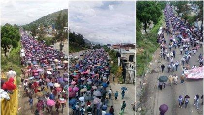 Marchas a 12 años de la Comuna de Oaxaca