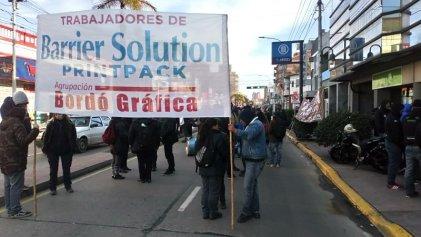 Trabajadores de Barrier Solution movilizaron contra los despidos