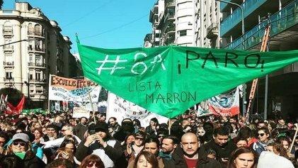 #8A: las y los docentes de Tigre exigen a Ctera paro nacional