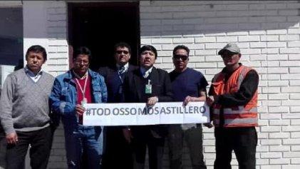 Solidaridad desde Bolivia con la lucha de los trabajadores del Astillero Río Santiago en Argentina