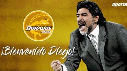 Diego vuelve a México: Maradona será DT de los Dorados de Sinaloa