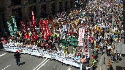 Semana de huelgas y manifestaciones en Cataluña