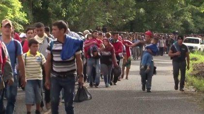 Ingresa nuevo grupo de migrantes centroamericanos a México