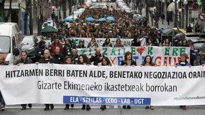 Mujeres trabajadoras encabezan huelgas y conflictos en Euskadi