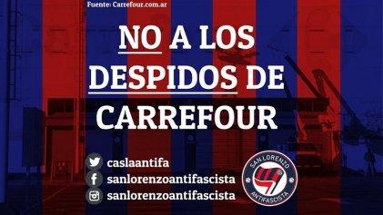 San Lorenzo y su vuelta a Boedo: hinchas exigen que no haya despidos en Carrefour