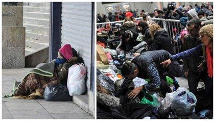Frío y precariedad: ante la falta de soluciones del Gobierno, crece la solidaridad popular