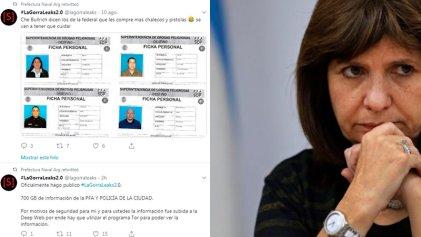 Bullrich hackeada: tras el golpe electoral, filtran 700 gigas de data sensible de la Federal