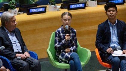 """Cumbre climática: Guterres dijo que """"los políticos escuchan poco"""" y Greta que vendrá a la Argentina"""