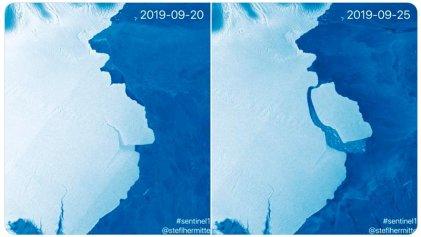 Un iceberg, cinco veces el tamaño de Malta, se desprende de la Antártida
