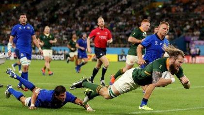 Sudáfrica venció 49-3 a Italia en un partido plagado de incidencias