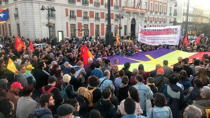 Concentración en Madrid en apoyo al pueblo catalán