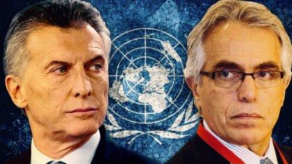 La ONU pidió explicaciones a Macri sobre la manipulación del Poder Judicial