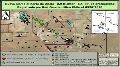Vaca Muerta: un nuevo sismo sacudió Añelo