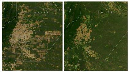 La NASA elige como imagen del día la deforestación en el Gran Chaco