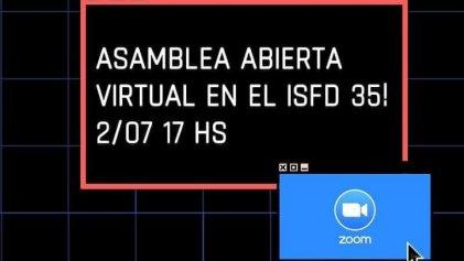 Monte Grande: asamblea virtual de cientos de estudiantes en el ISFDyT N* 35