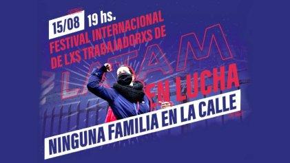Gran festival internacional en apoyo a lxs trabajadorxs de LATAM