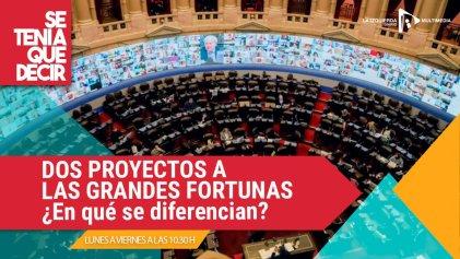 Impuesto a las grandes fortunas: qué dicen los dos proyectos presentados en el Congreso