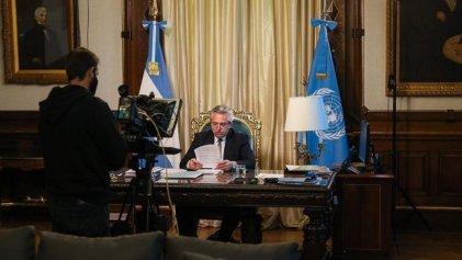"""Alberto Fernández en la ONU: criticó el """"endeudamiento tóxico"""" pero aseguró que será responsable en pagarlo"""