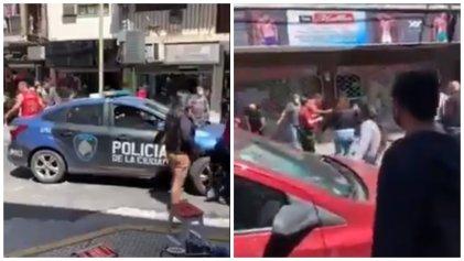 [Video] Policía y patotas contra vendedores ambulantes senegaleses en el barrio de Once