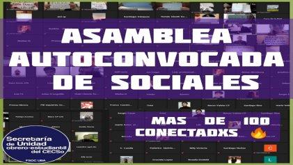Sociales UBA: Primera asamblea autoconvocada para que nadie se quede afuera de la universidad
