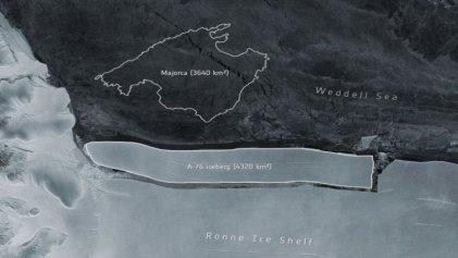 """El Iceberg A-76 """"el más grande del mundo"""", se desprendió de la Antártida"""