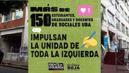 Sociales UBA: Más de 150 personas impulsan la unidad de toda la izquierdaá