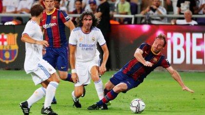 Nada amistoso: veteranos de Barcelona y Real Madrid, en el Israel que ataca a Palestina