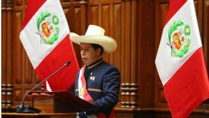 Claves del primer discurso presidencial de Pedro Castillo