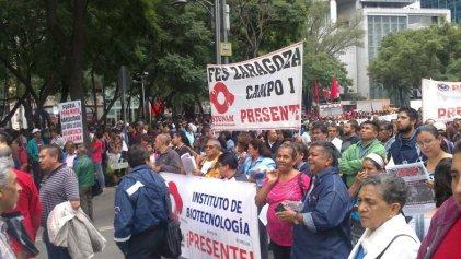 Gran movilización a dos años de Ayotzinapa en la Ciudad de México
