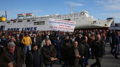 Huelga de marineros contra la reducción de pensiones