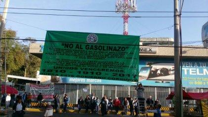 Primeras acciones de telefonistas contra el 'gasolinazo' de Peña y las trasnacionales