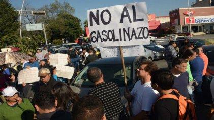 Manifestaciones en Jalisco por el 'gasolinazo'