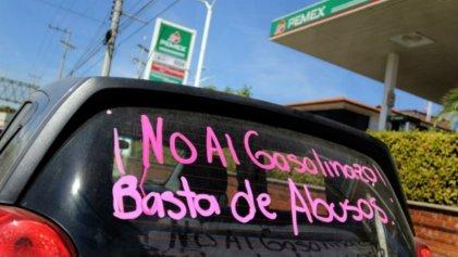 Se extienden protestas contra el 'gasolinazo', en Mexicali queman bandera de EU