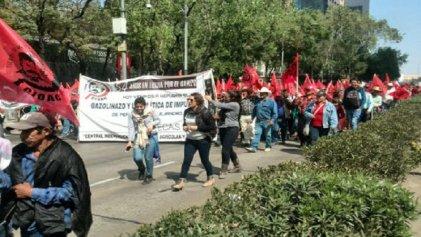 Día de movilizaciones y plantones en Ciudad de México
