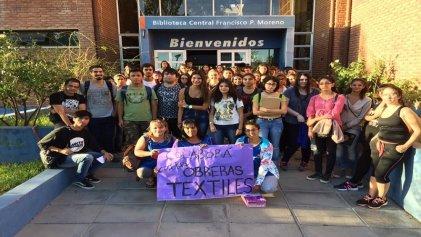 El curso de ingreso de Humanidades del Comahue apoyó a las obreras textiles