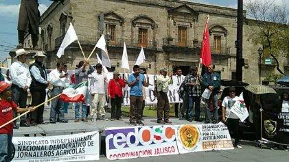 Caravana de Jornaleros de San Quintín llega a Guadalajara