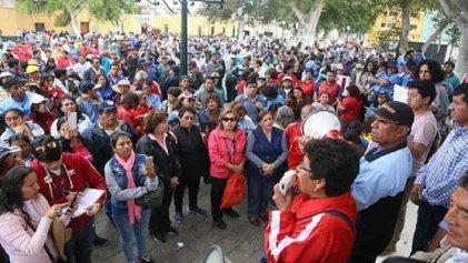 Movilización del magisterio peruano