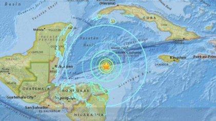 Temblor de 7.8 grados sacude a Honduras