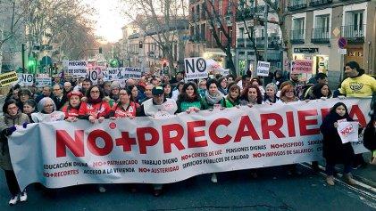 """Protestas por """"NO + PRECARIEDAD"""" en 33 ciudades del Estado español"""