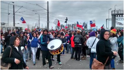 Histórica huelga de los trabajadores y trabajadoras de Carozzi-Costa