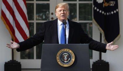 Trump declaró que firmará la emergencia nacional para construir el muro