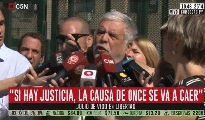 """De Vido libre y polémico: """"Si hay justicia la causa de Once tiene que caer"""""""