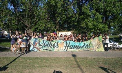 San Lorenzo: jóvenes ambientalistas rechazaron el acuerdo porcino con China