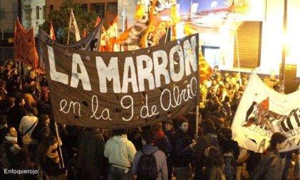 Las docentes tucumanas de La Marrón nos movilizamos este 8 de Marzo
