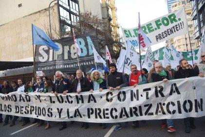 Trabajadores de prensa se movilizaron contra el vaciamiento y los despidos