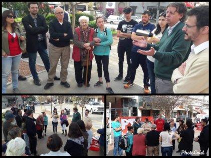 Lobos: Christian Castillo charló con vecinos de la ciudad