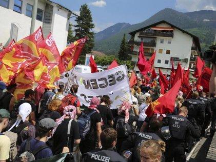 Miles se movilizan contra el G7 en Alemania
